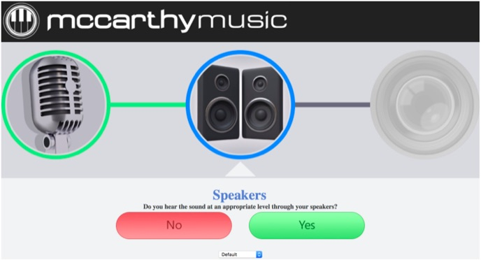 Speakers test